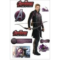 Stickers Hawkeye Avengers 27x40cm