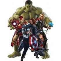 Stickers Hulk-Iron man-Captain América-Hawkeye-Black Widow Avengers