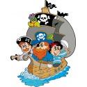 Sticker enfant Bateau et Pirates