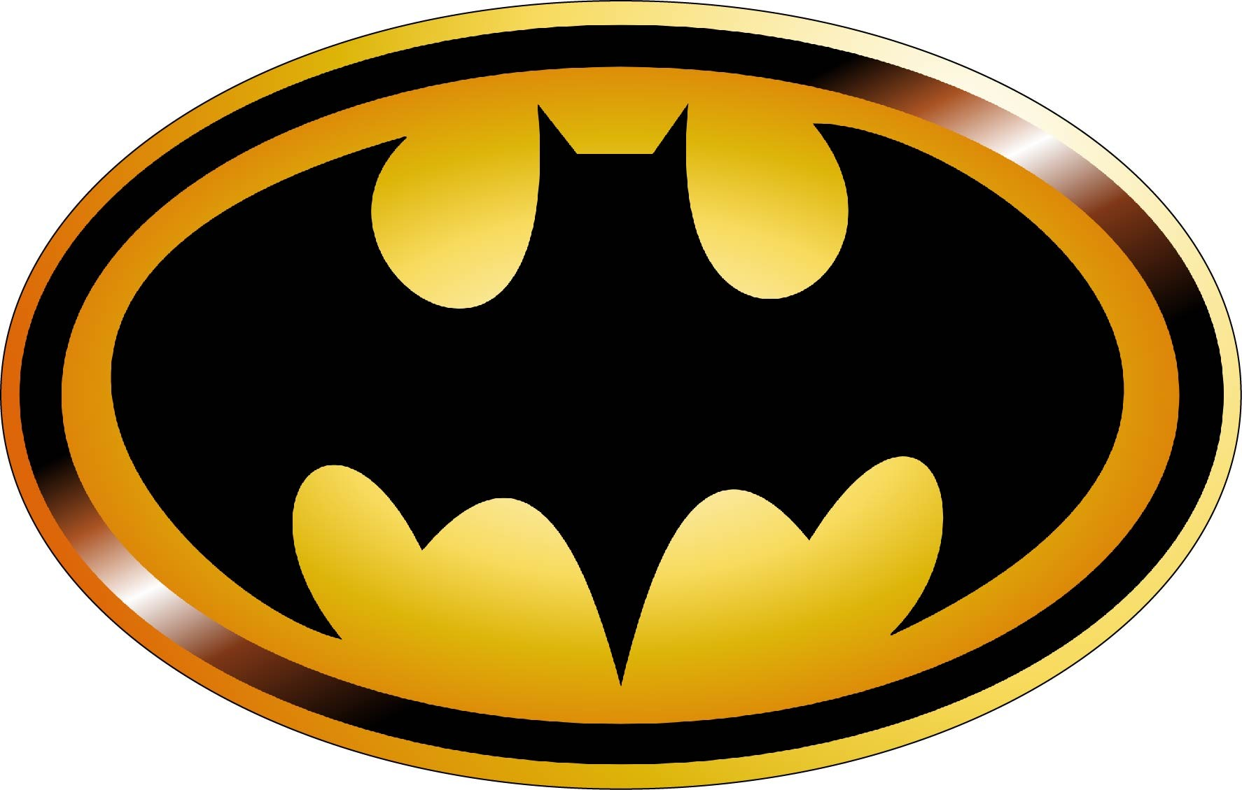 Stickers logo batman art déco stickers