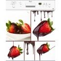 Sticker lave vaisselle fraise au chocolat