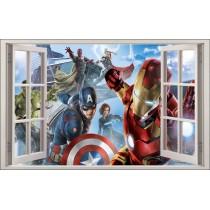 Sticker enfant fenêtre Avengers