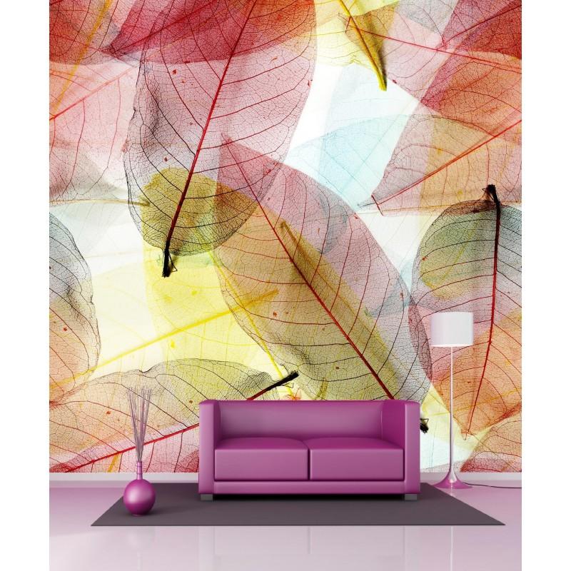 papier peint g ant feuilles d 39 automne 250x250cm art d co stickers. Black Bedroom Furniture Sets. Home Design Ideas