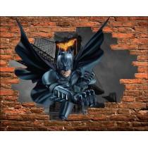 Stickers Trompe l'oeil pierre Batman