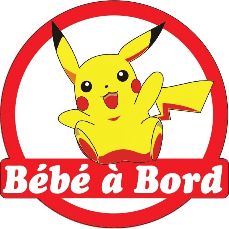 sticker autocollant enfant b b bord pikachu art d co stickers. Black Bedroom Furniture Sets. Home Design Ideas