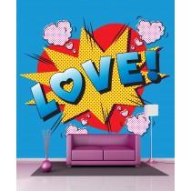 Stickers géant déco LOVE