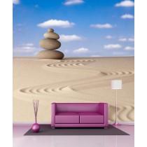Stickers géant déco Galets et sable