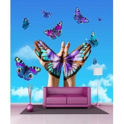 Stickers géant déco Papillons