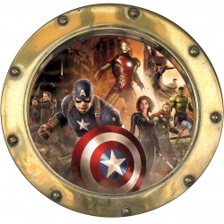 Sticker hublot enfant Avengers