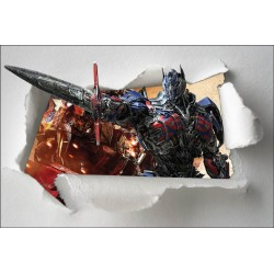 Stickers papier déchiré Transformers