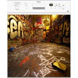 Sticker lave vaisselle Graffiti Tag, magnet lave vaisselle