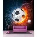 Stickers géant déco Ballon de foot