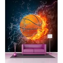 Stickers géant déco Ballon de basket