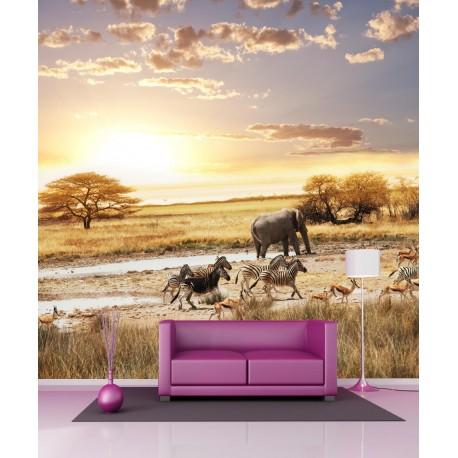 Stickers géant déco Paysage safari