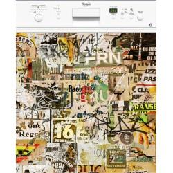Sticker lave vaisselle Papier, magnet lave vaisselle