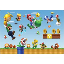 Stickers pc ordinateur portable Mario et ses amis réf 16225