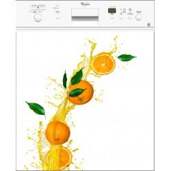 Sticker lave vaisselle Orange, magnet lave vaisselle