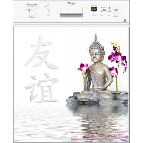 Sticker lave vaisselle Bouddha Zen ou magnet lave vaisselle