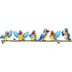 Stickers autocollant Oiseaux branche