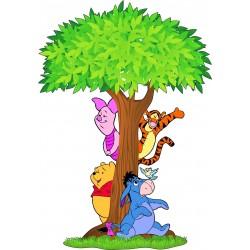 Sticker enfant arbre Winnie l'ourson