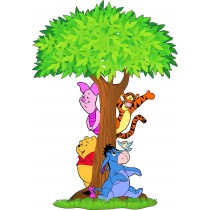 Sticker enfant arbre Winnie l'ourson