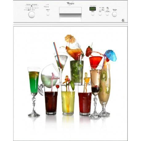 Magnet lave vaisselle Cocktail ou sticker lave vaisselle