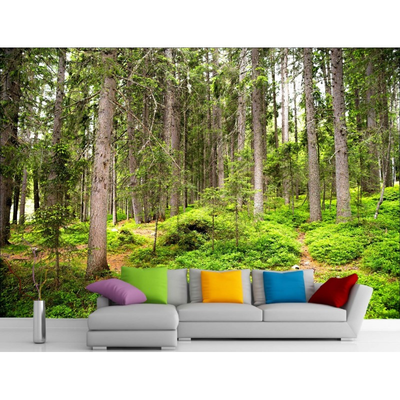 stickers muraux g ant d co foret art d co stickers. Black Bedroom Furniture Sets. Home Design Ideas