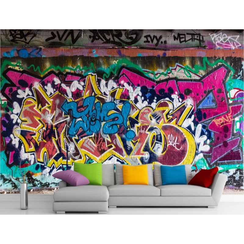stickers muraux g ant d co graffiti art d co stickers. Black Bedroom Furniture Sets. Home Design Ideas