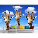 Stickers muraux géant déco : Girafes