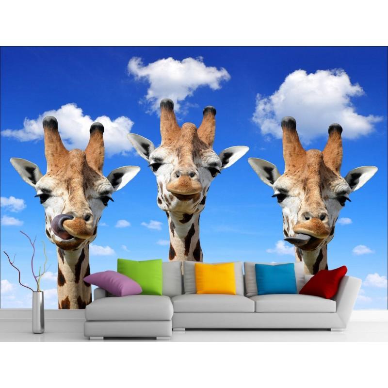 Stickers muraux g ant d co girafes art d co stickers - Stickers muraux geant ...