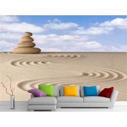 Stickers muraux géant déco : Galet et sable