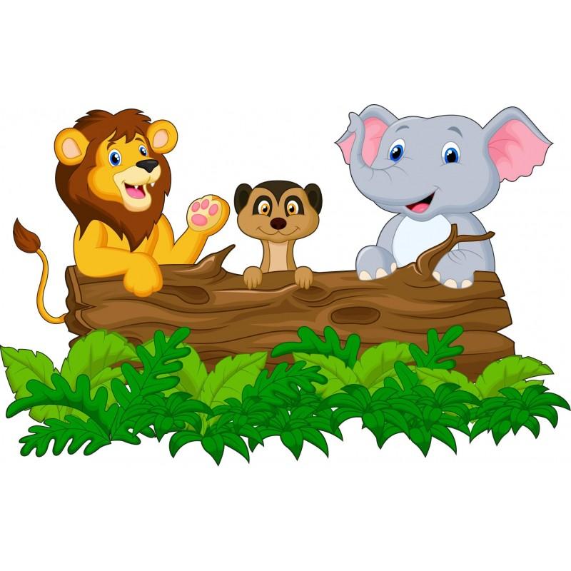 stickers enfant animaux jungle savane art d co stickers. Black Bedroom Furniture Sets. Home Design Ideas