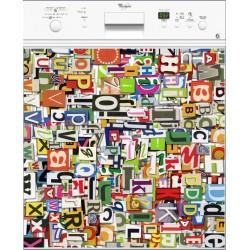 Sticker lave vaisselle Lettres ou magnet lave vaisselle