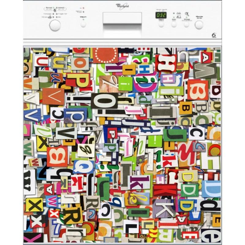 sticker lave vaisselle lettres ou magnet lave vaisselle. Black Bedroom Furniture Sets. Home Design Ideas