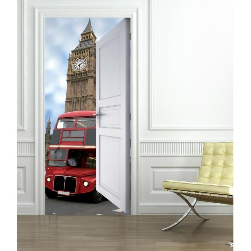 stickers porte trompe l 39 oeil londres art d co stickers. Black Bedroom Furniture Sets. Home Design Ideas
