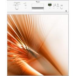 Sticker lave vaisselle Design orange ou magnet lave vaisselle