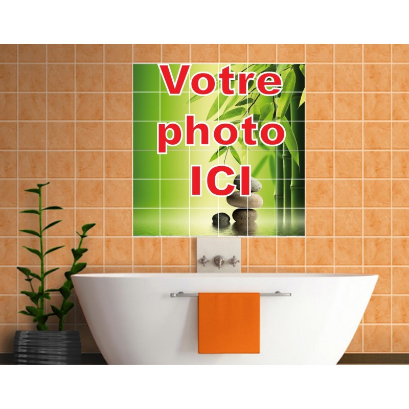 Stickers carrelage mural personnalis art d co stickers - Sticker mural personnalise ...