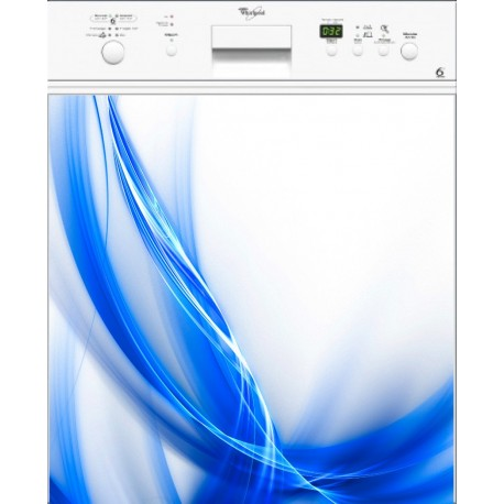 Sticker lave vaisselle Design bleu orange ou magnet lave vaisselle