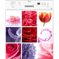 Sticker lave vaisselle Fleurs ou magnet lave vaisselle