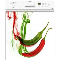 Sticker lave vaisselle piments ou magnet lave vaisselle