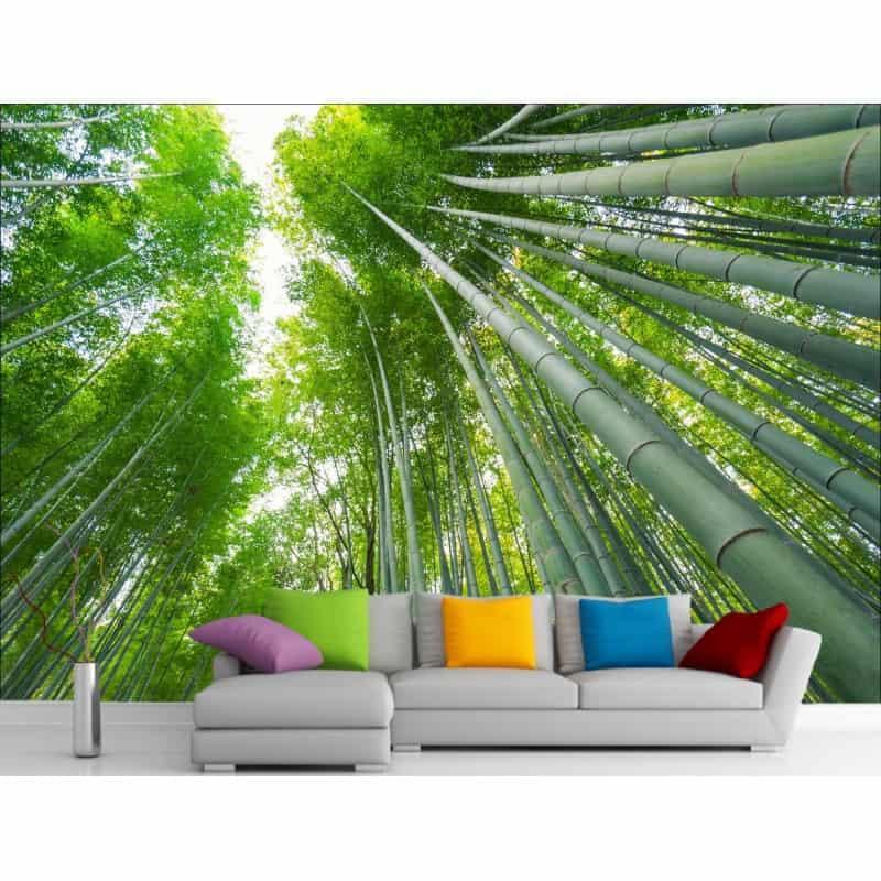 stickers muraux g ant d co f ret et bambou art d co stickers. Black Bedroom Furniture Sets. Home Design Ideas