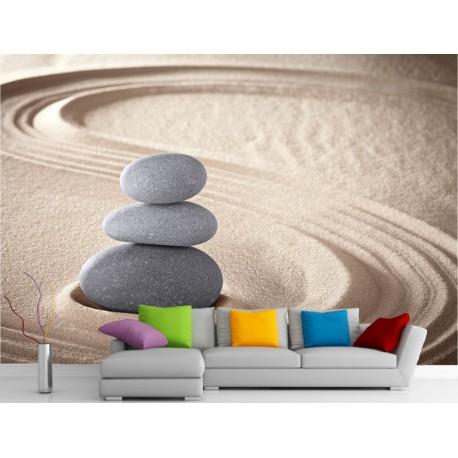 stickers muraux g ant d co galets et sable art d co. Black Bedroom Furniture Sets. Home Design Ideas