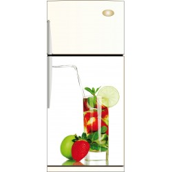 Sticker frigo Cocktail de fruit - ou sticker magnet frigo