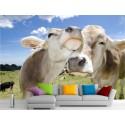 Stickers muraux géant déco : Vaches