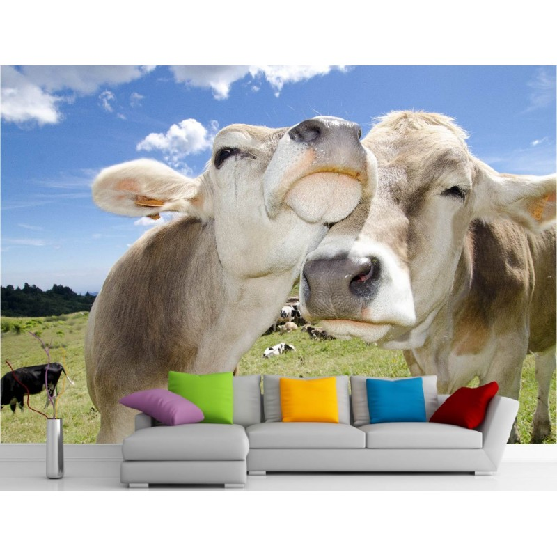 stickers muraux g ant d co vaches art d co stickers. Black Bedroom Furniture Sets. Home Design Ideas