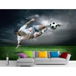 Stickers muraux géant déco : Footballeur