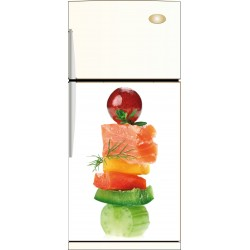 Sticker frigo Brochette- ou sticker magnet frigo