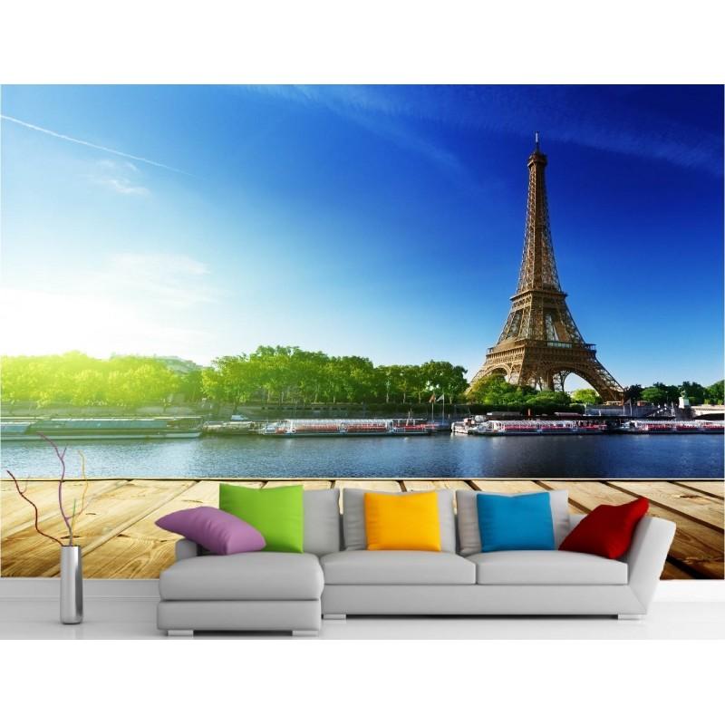 stickers muraux g ant d co la tour effeil art d co. Black Bedroom Furniture Sets. Home Design Ideas