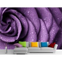 Stickers muraux géant déco : Fleur violette