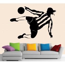 Stickers muraux footballeur